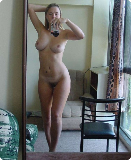blonde big boobs selfshot